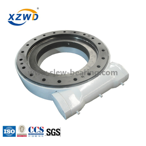 High precision slew drive for solar tracker with 24V DC motor similar as kinematics slew drive